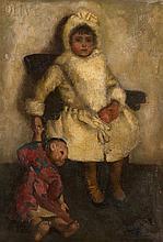John Byam Liston Shaw, R.I., R.O.I., (1872-1919)  A portrait of Olive w