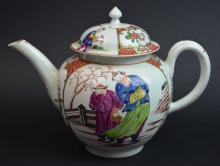 Sotheby's Chinese Rose Medallion Porcelain Teapot