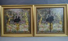 Pair of Chinese Framed Textile
