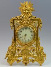 19th Century Gilt Table Clock