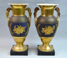 Pair of French 19th Century Empire Vases