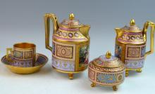 Set of 4 Pieces Royal Vienna Tea Set