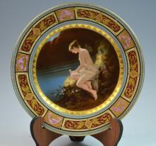 One Royal Vienna Style Plate Signed Psyche