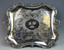 Antique French Silver Tray c.1875