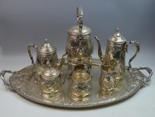 Hand Chased Complete Sterling Tea Set
