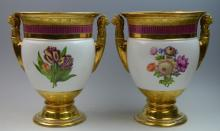 Pair of French 19th Century Porcelain Vases