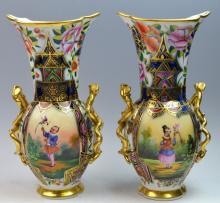 Pair of 19th Century English Porcelain Vases