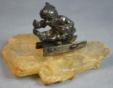 Rock Crystal and Silver Skater