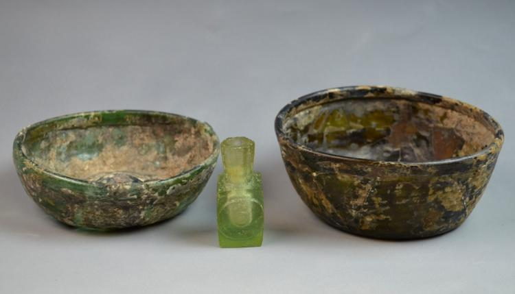 Three Pieces of 12 Century AD Ancient Glasses