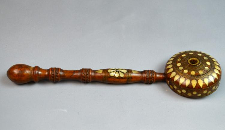 Very Old Indian Mother Pearl Opium Pipe