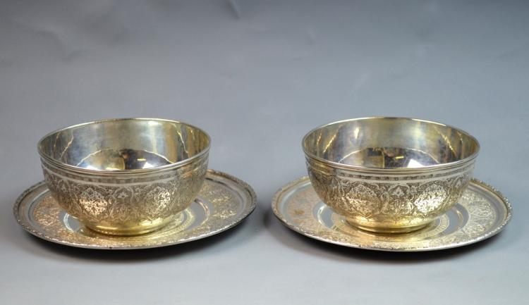 Pair of Iran Silver Bowls