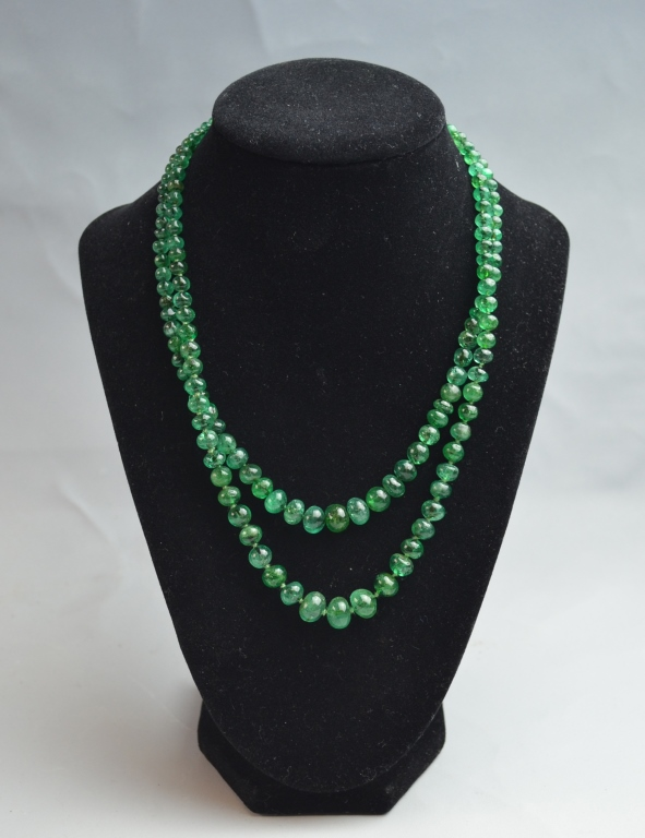 Buccellati Emerald Bead Neck w/ Original Receipt