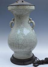 Chinese Ge Ware Styple Porcelain Lamp