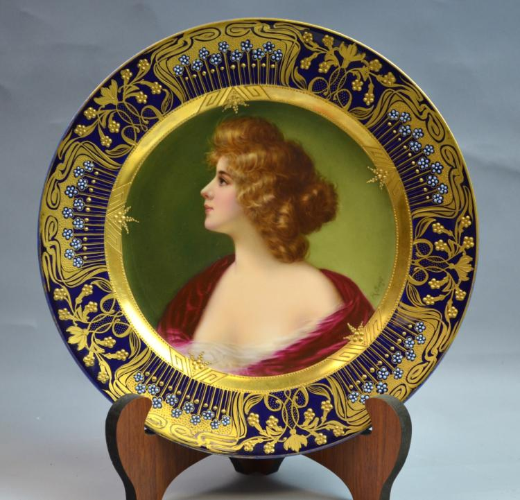 Royal Vienna Hand-painted Porcelain Plate