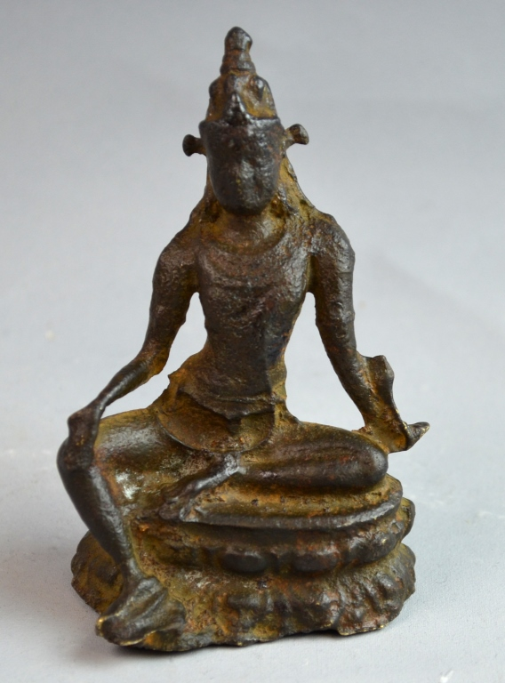 Indian Bronze Seated Buddha Figure