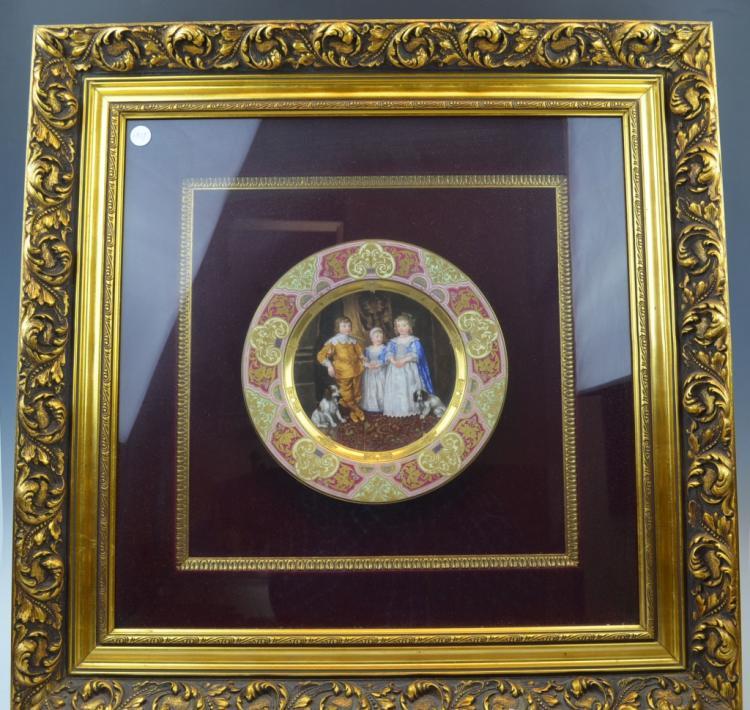 A Vienna Porcelain Framed Plate