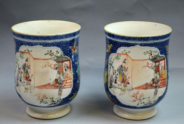 2 Chinese Export Porcelain Mugs