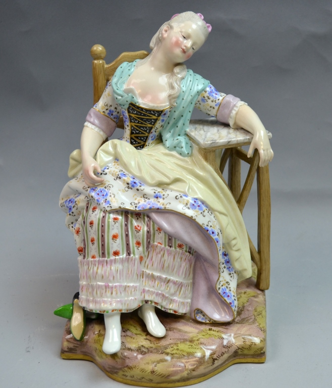 Meissen Sleeping Girl