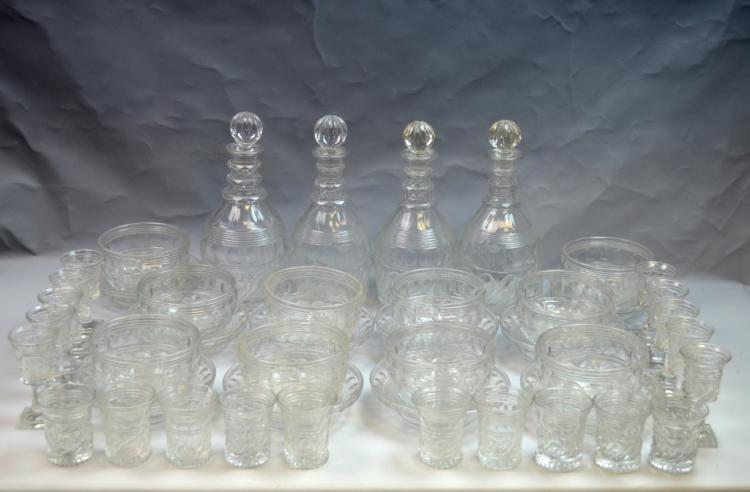 Large Cut Crystal Decanter Set