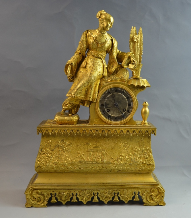 French Empire Chinese Motif Clock