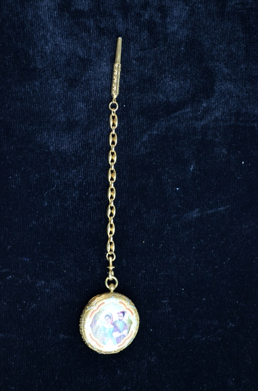 Enamel Gold Pendant Watch