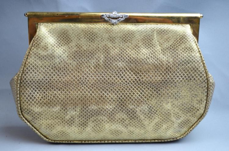 Cartier Gold & Silk Evening Bag