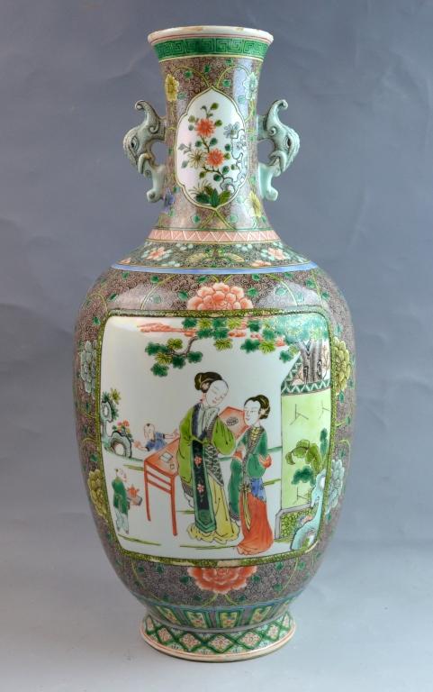 Chinese Famile Verte Porcelain Vase
