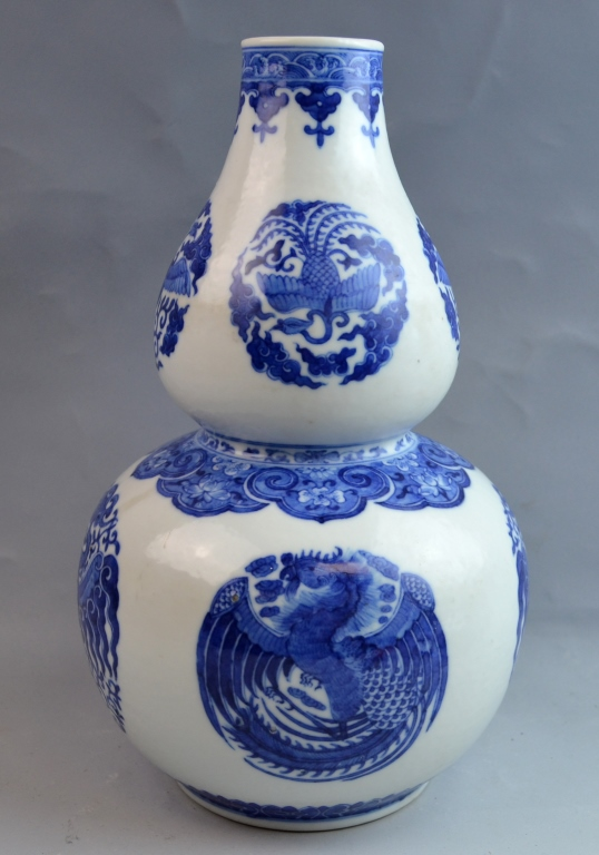 Chinese Blue and White Double Gourd Porcelain Vase