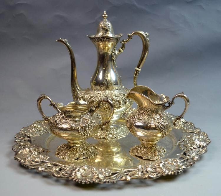 Silver Art Nouveau Tea Set