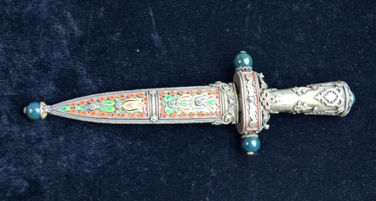 Hungary Silver & Enamel Dagger