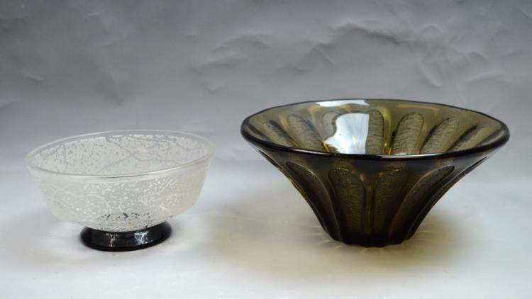 2 Daum Nancy Art Deco Bowls