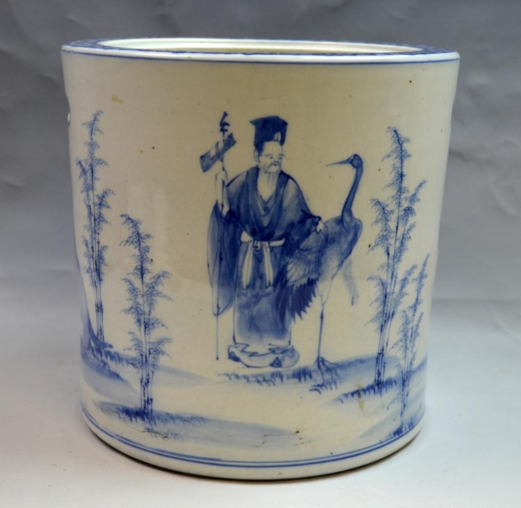 Large Chinese Blue and White Vase