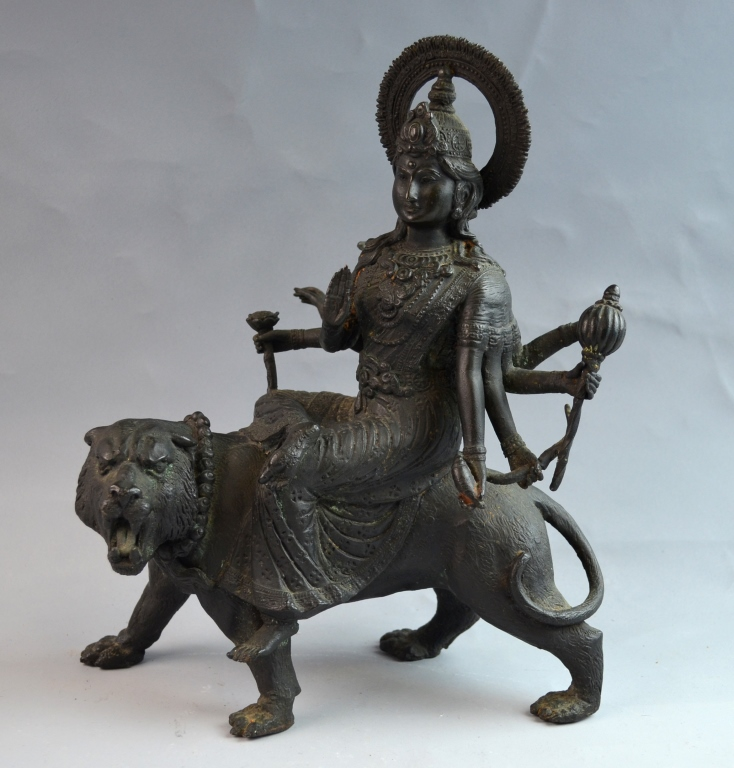 Indian / Nepal Bodhisattva Seated on Lion
