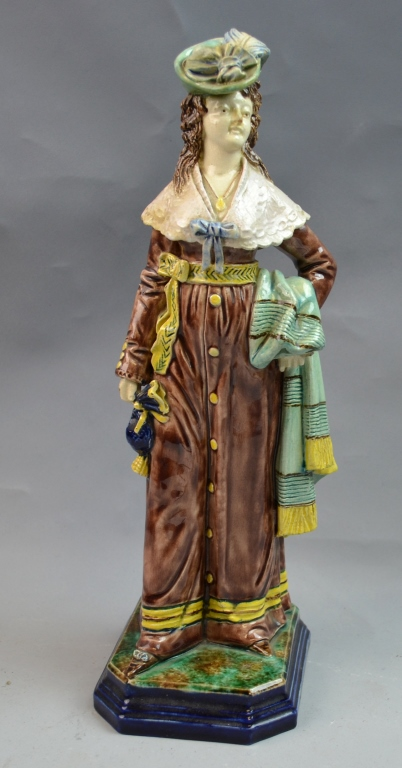 19th Century Majolica Porcelain Figure