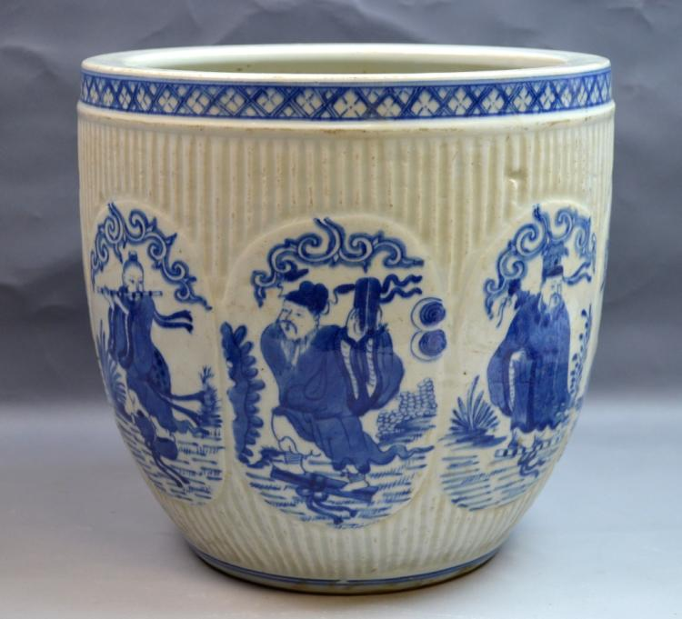 Chinese Blue and White Porcelain Planter