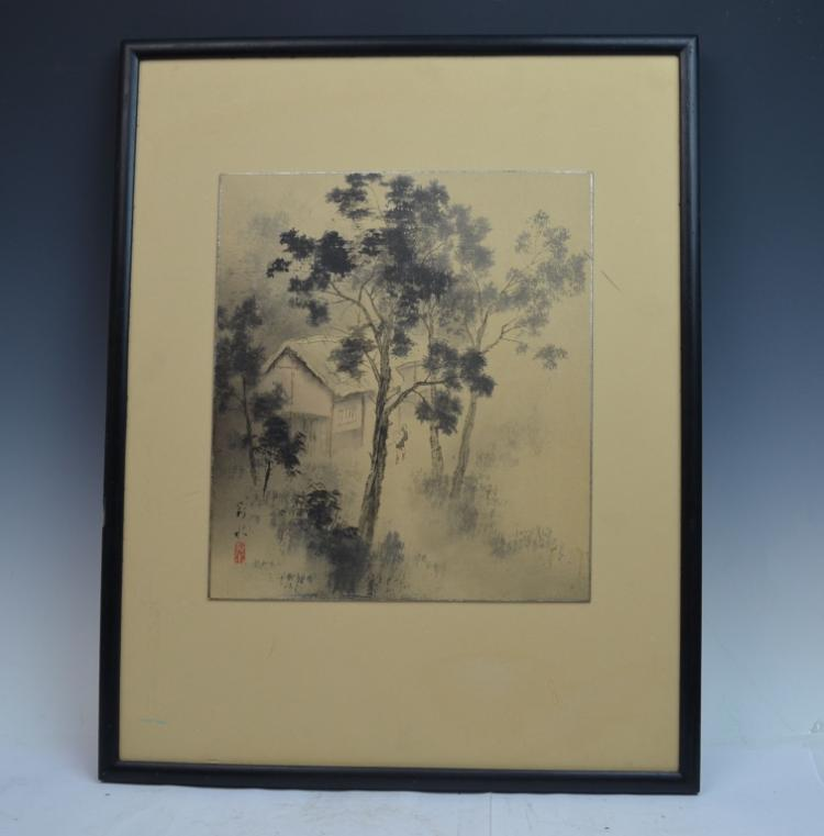Framed Chinese Landscape Printing
