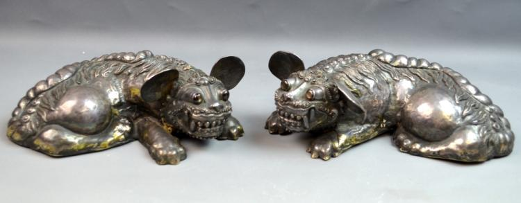 Pair of Chinese/Japanese Foo Dog