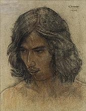 RUDOLF BONNET | Portrait of an Indonesian Man