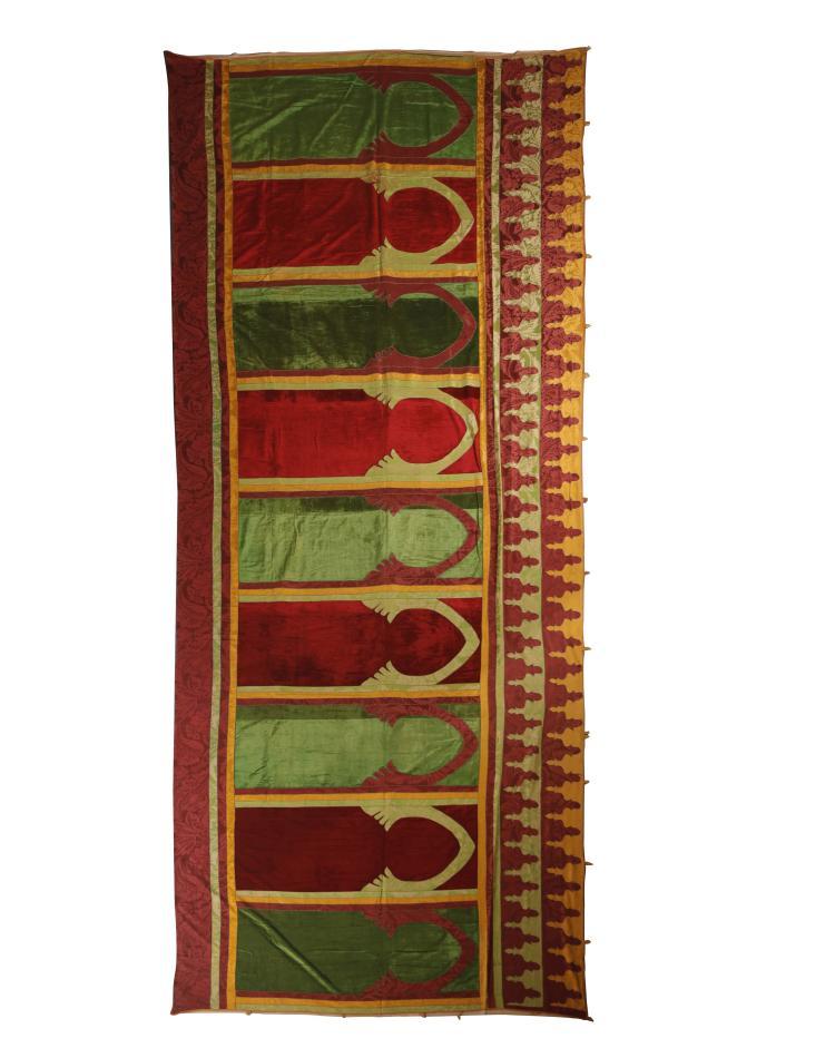panneau mural haiati maroc vers 1880 634x225 cm appliqu. Black Bedroom Furniture Sets. Home Design Ideas