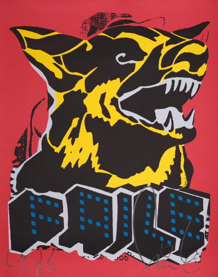 Faile Dog (Black Light) par FAILE - 2015
