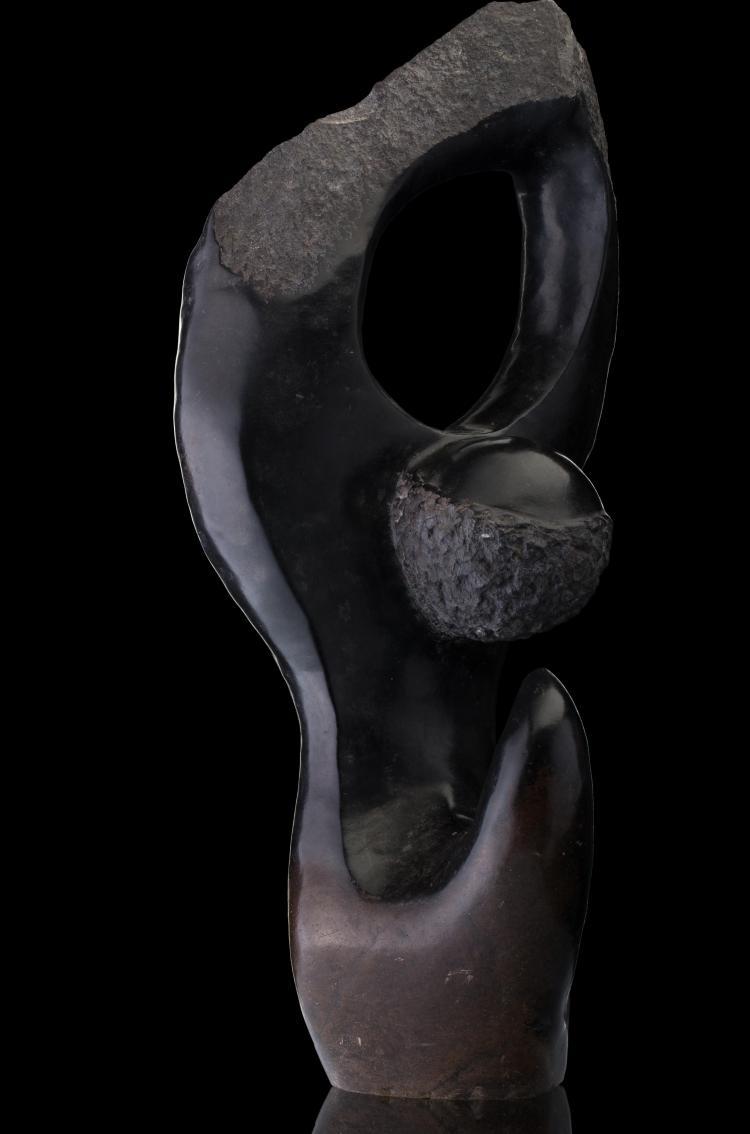 Tête en pierre (green stone)