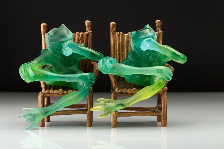 Paire de grenouille - DAUM