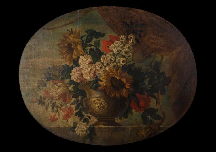 Vase de fleurs ovale