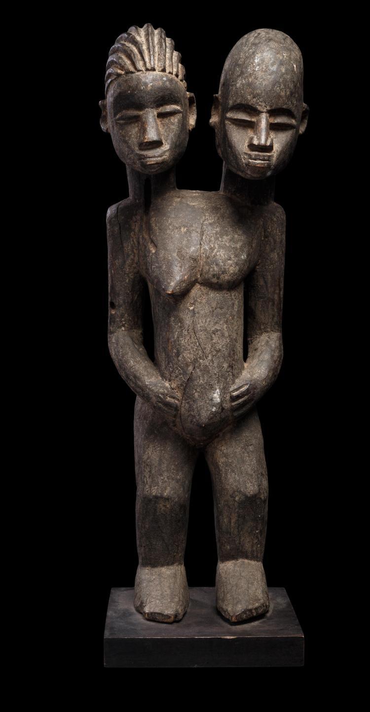 Rare et grande statue hermaphrodite