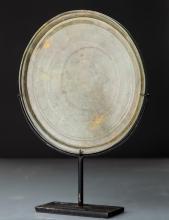 Miroir circulaire en bronze