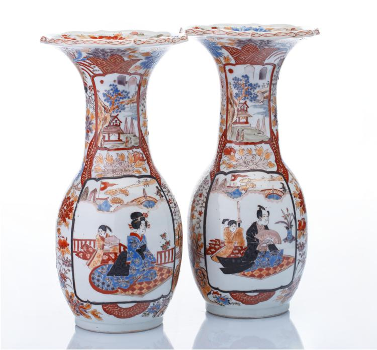 Paire de vases «colerettes»