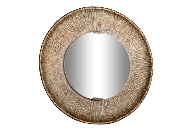 Angelo bragalini miroir en cuivre martel for Miroir cuivre