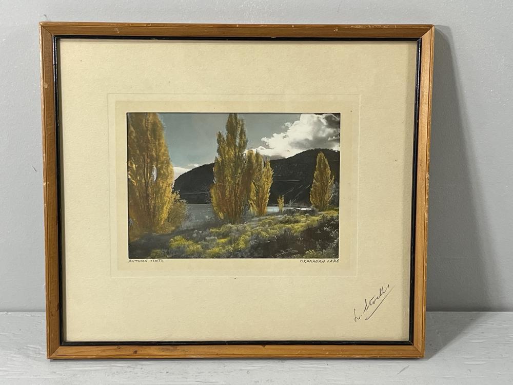 Lumb Stocks, Autumn Tints, Okanagan Lake, handtinted and signed