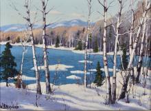 William Gardner Blackwood, Untitled (Winter Birches, Muskoka)