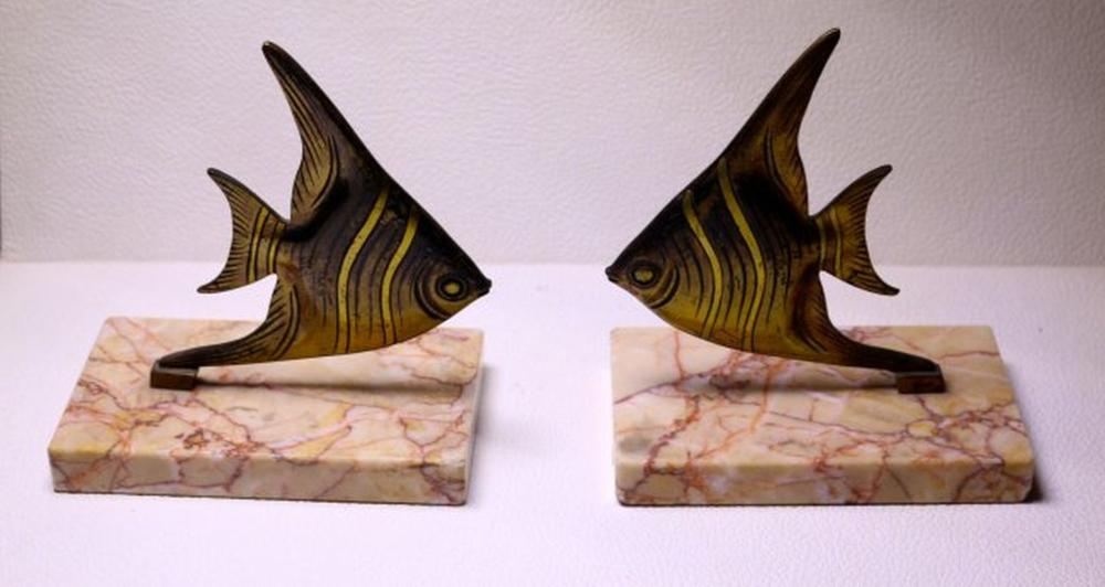 Sold Price Midcentury Fish Bookends April 6 0120 2 00 Pm Pdt